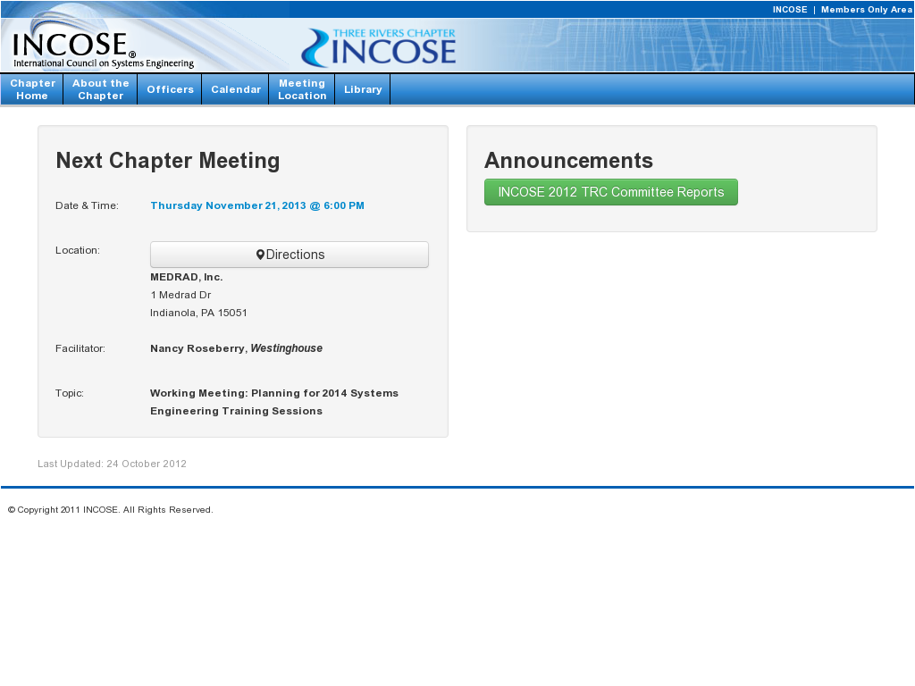 INCOSE Three Rivers Chapter